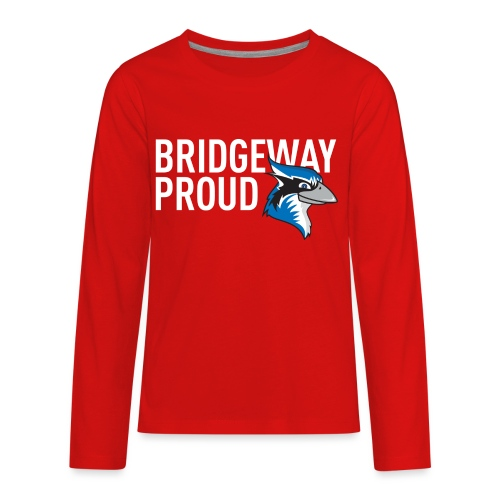 BW Proud Mascot White - Kids' Premium Long Sleeve T-Shirt