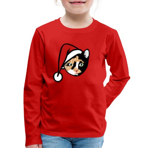 Calico Cat Santa - Kids' Premium Long Sleeve T-Shirt