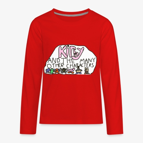 Kirby and the many other characters - Kids' Premium Long Sleeve T-Shirt