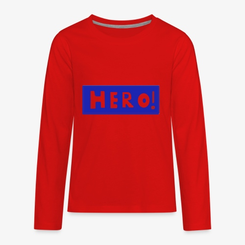 hero shirt - Kids' Premium Long Sleeve T-Shirt