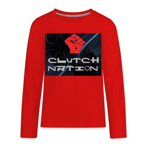 clutchnation logo merch - Kids' Premium Long Sleeve T-Shirt