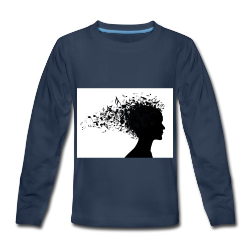 music through my head - Kids' Premium Long Sleeve T-Shirt