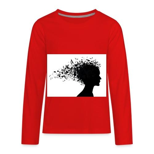 music through my head - Kids' Premium Long Sleeve T-Shirt