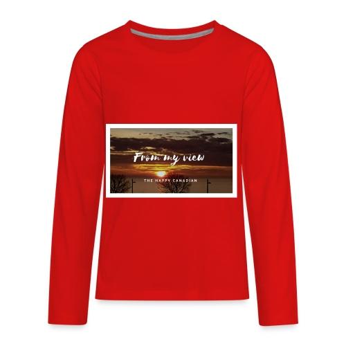 THE HAPPY CANADIAN - Kids' Premium Long Sleeve T-Shirt