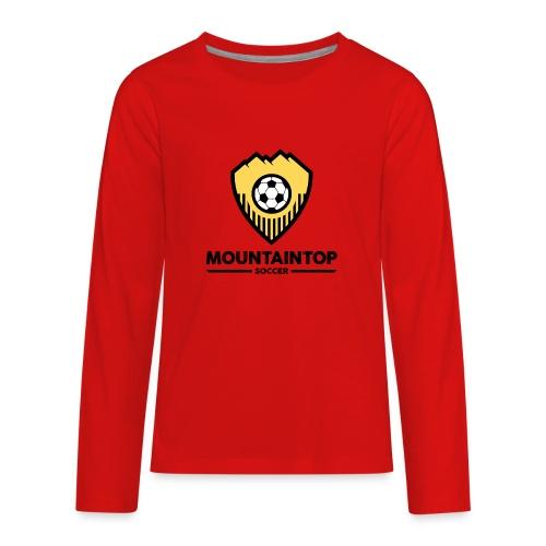 Mountaintop Soccer Association Logo - Kids' Premium Long Sleeve T-Shirt