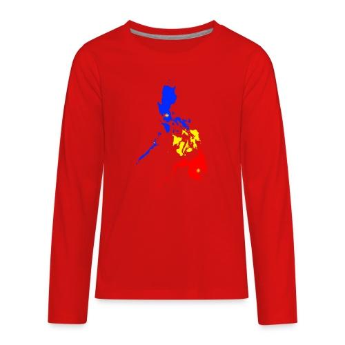 Philippines map art - Kids' Premium Long Sleeve T-Shirt