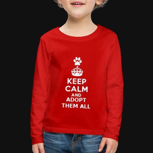 KEEP CALM2 white - Kids' Premium Long Sleeve T-Shirt