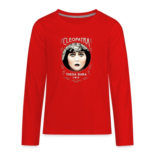 Theda Bara as Cleopatra (1917) - Kids' Premium Long Sleeve T-Shirt