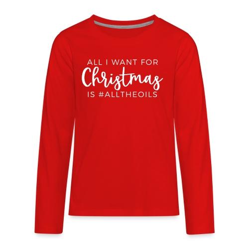 Christmas Oils - Kids' Premium Long Sleeve T-Shirt