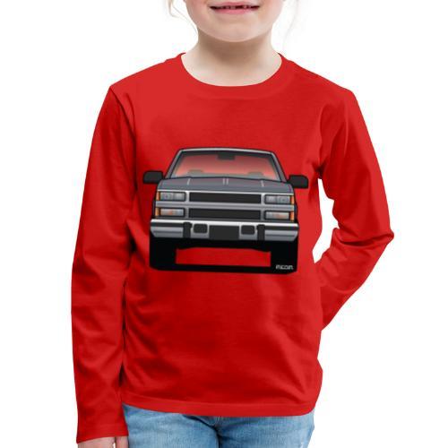 Design Icon: American Bowtie Silver Urban Truck - Kids' Premium Long Sleeve T-Shirt