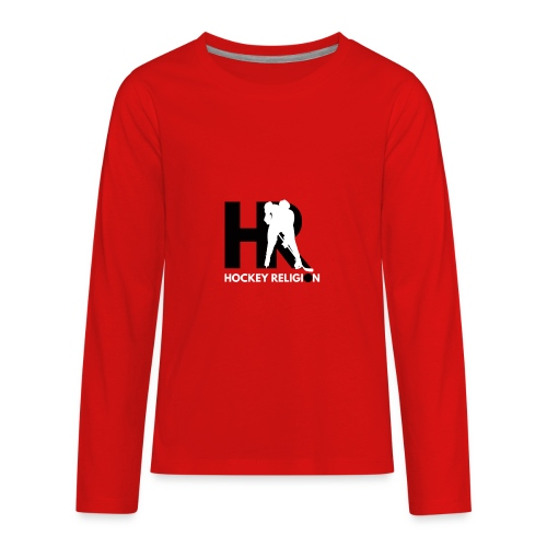 Hockey Religion - Kids' Premium Long Sleeve T-Shirt