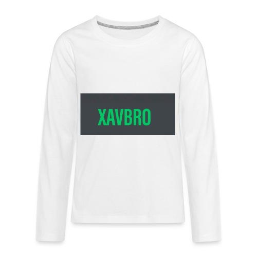 xavbro green logo - Kids' Premium Long Sleeve T-Shirt