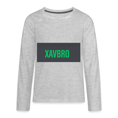 xavbro green logo - Kids' Premium Long Sleeve T-Shirt