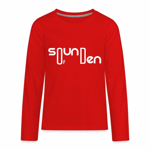 Soundofden The white classical Logo - Kids' Premium Long Sleeve T-Shirt
