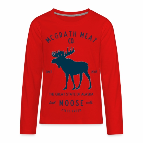 McGrath Meat Company Blue Stamp Logo - Kids' Premium Long Sleeve T-Shirt