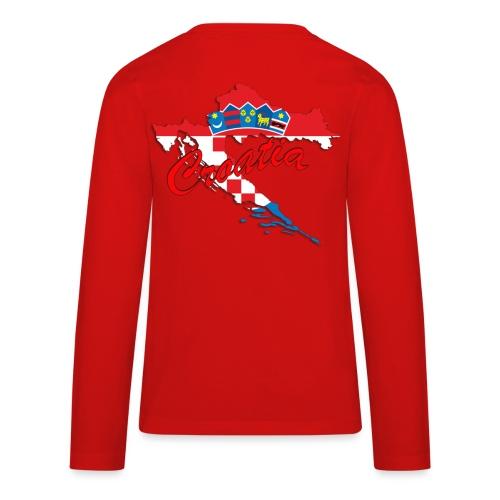 Croatia Football Team Colours T-Shirt Treasure Des - Kids' Premium Long Sleeve T-Shirt