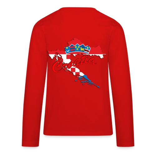 Croatia Football Team Colours T-Shirt Treasure Des - Kids' Premium Long Sleeve T-Shirt