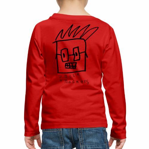Uncle Knackers Self Portrait. - Kids' Premium Long Sleeve T-Shirt