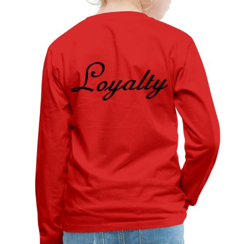 Loyalty Brand Items - Black Color - Kids' Premium Long Sleeve T-Shirt