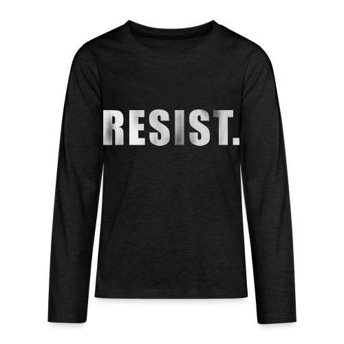 RESIST. - Kids' Premium Long Sleeve T-Shirt