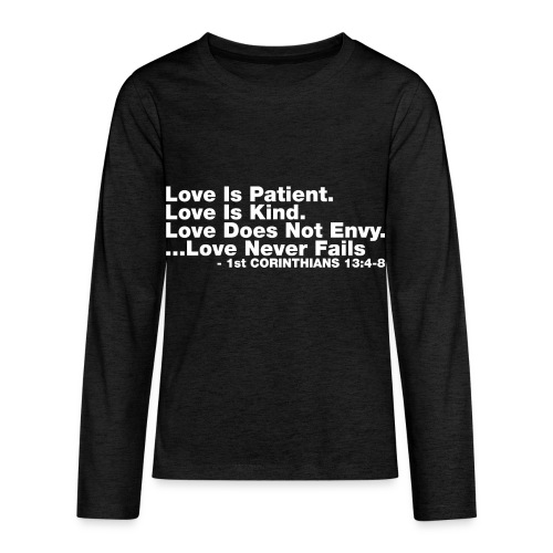 Love Bible Verse - Kids' Premium Long Sleeve T-Shirt