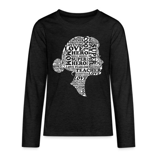 Mother Definition, Teacher Mom, Great Teacher Mom - Kids' Premium Long Sleeve T-Shirt