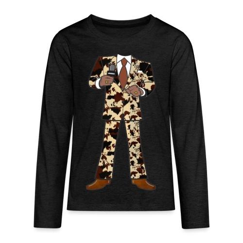 The Classic Cow Suit - Kids' Premium Long Sleeve T-Shirt