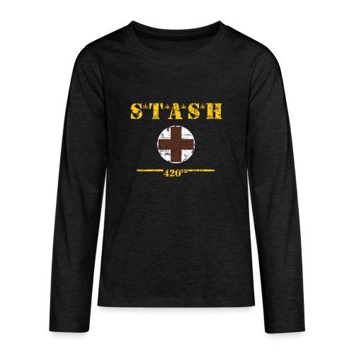 STASH-Final - Kids' Premium Long Sleeve T-Shirt