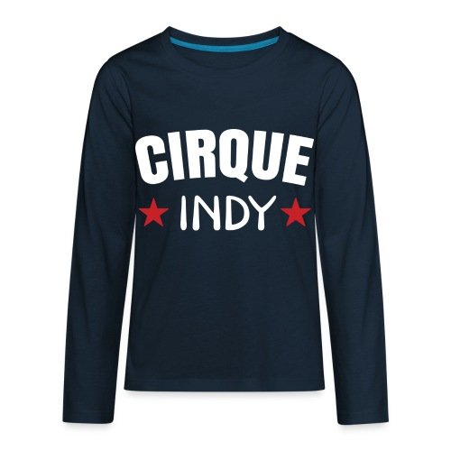 Cirque Indy - White Logo - Kids' Premium Long Sleeve T-Shirt