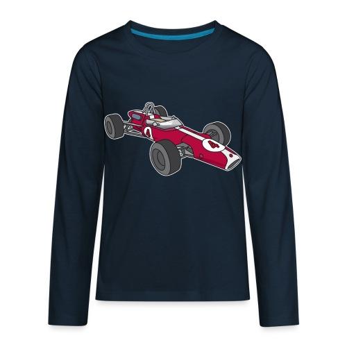 Red racing car, racecar, sportscar - Kids' Premium Long Sleeve T-Shirt