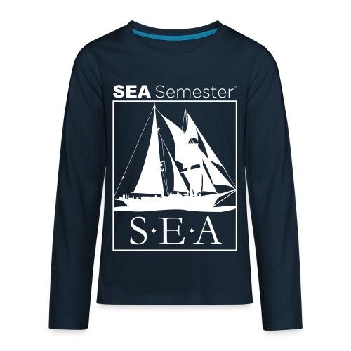 SEA_logo_WHITE_eps - Kids' Premium Long Sleeve T-Shirt