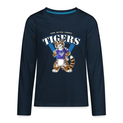 Team TIGERS Blue - Kids' Premium Long Sleeve T-Shirt