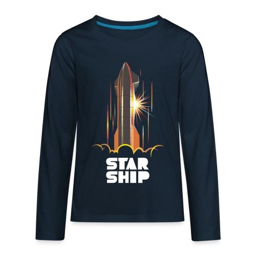 Star Ship Mars - Dark - Kids' Premium Long Sleeve T-Shirt