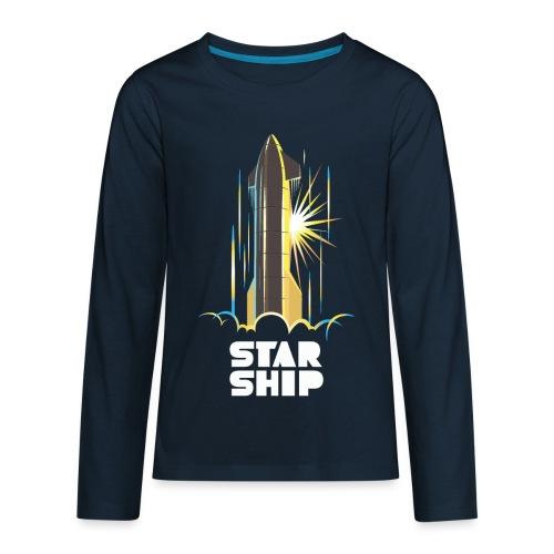Star Ship Earth - Dark - Kids' Premium Long Sleeve T-Shirt