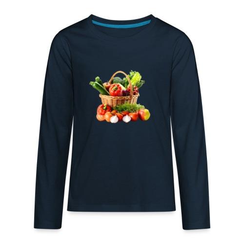 Vegetable transparent - Kids' Premium Long Sleeve T-Shirt