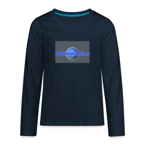 PENGUINONTHEHILLS LOGO - Kids' Premium Long Sleeve T-Shirt