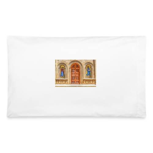 Mary and Joseph Icons on a Church wall - Pillowcase