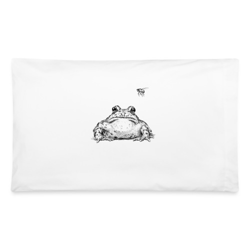 Frog with Fly by Imoya Design - Pillowcase 32'' x 20''