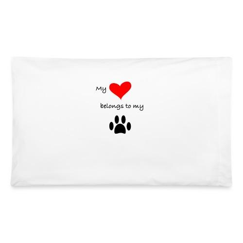 Dog Lovers shirt - My Heart Belongs to my Dog - Pillowcase 32'' x 20''
