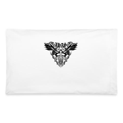 Vintage JHAS Tribal Skull Wings Illustration - Pillowcase 32'' x 20''