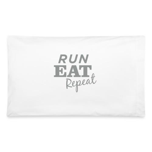 Run Eat Repeat buttons medium - Pillowcase 32'' x 20''