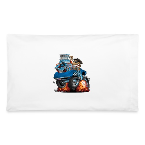 Classic '69 American Sports Car Cartoon - Pillowcase 32'' x 20''