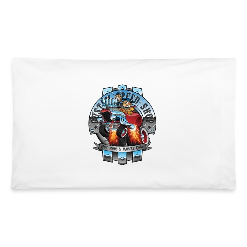 Custom Speed Shop Hot Rods and Muscle Cars Illustr - Pillowcase 32'' x 20''