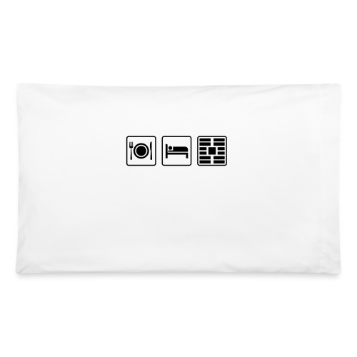 Eat Sleep Urb big fork - Pillowcase 32'' x 20''