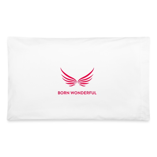 Red Born Wonderful Logo - Pillowcase 32'' x 20''