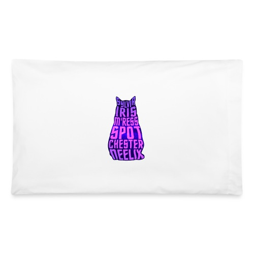 Trek Cats (pink and purple letters) - Pillowcase 32'' x 20''