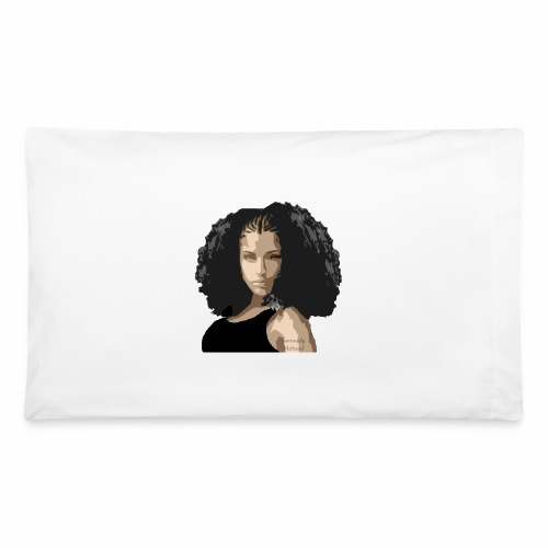 Sabrina in black tee - Pillowcase 32'' x 20''