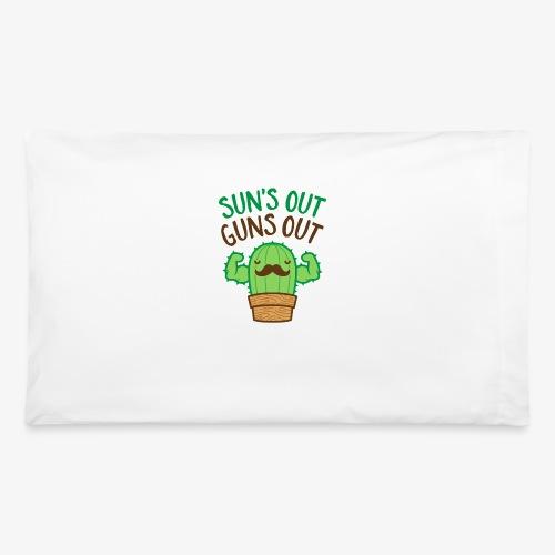 Sun's Out Guns Out Macho Cactus - Pillowcase 32'' x 20''
