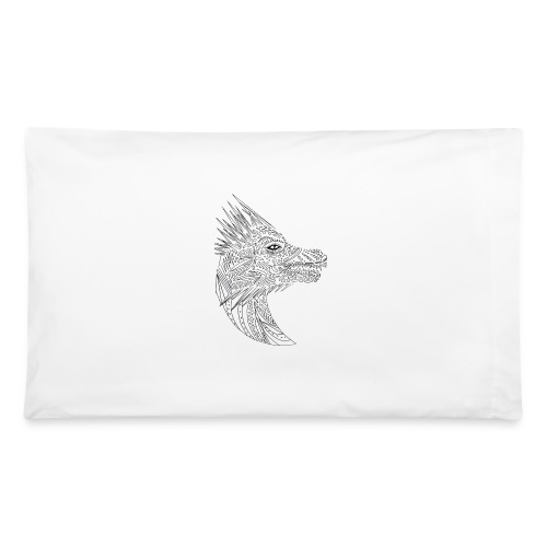 black art deco dragon head - Pillowcase 32'' x 20''