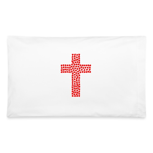Jesus Love heart cross - Pillowcase 32'' x 20''